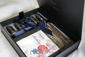 wine, message card