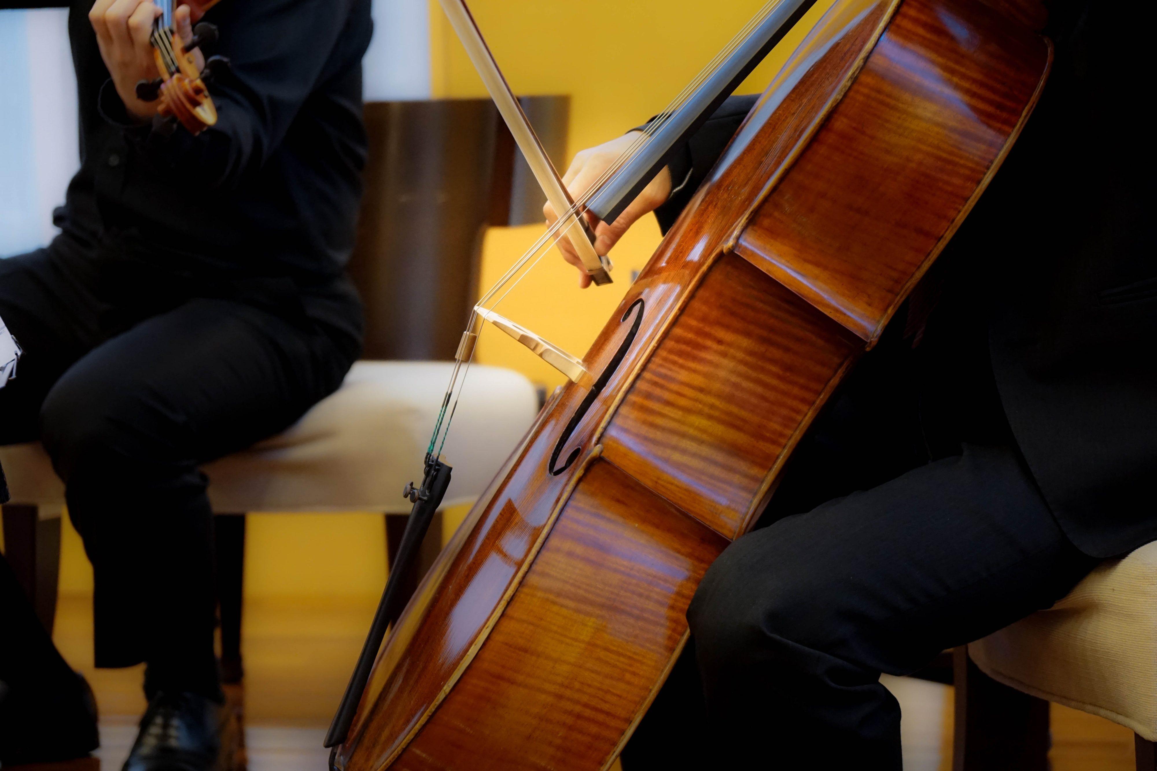 チェロ, カルテット, 演奏, 音楽