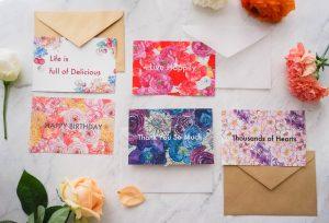 ポストカード, postcard, 花