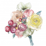 水彩Bouquet