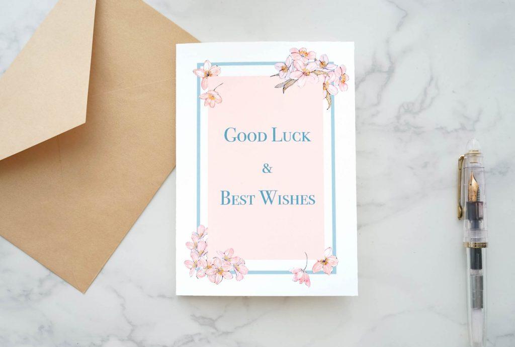 桜のグッドラックカード